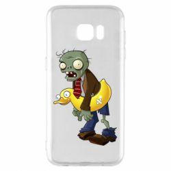 Чохол для Samsung S7 EDGE Zombie with a duck