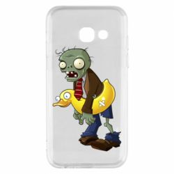 Чехол для Samsung A3 2017 Zombie with a duck