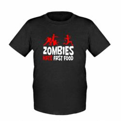Дитяча футболка Zombies hate fast food