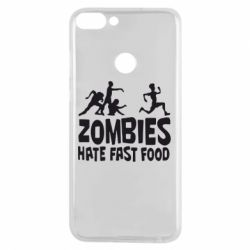 Чехол для Huawei P Smart Zombies hate fast food - FatLine