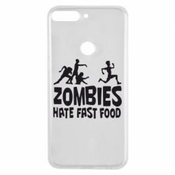 Чехол для Huawei Y7 Prime 2018 Zombies hate fast food - FatLine