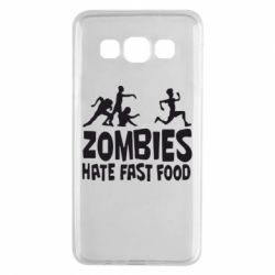 Чохол для Samsung A3 2015 Zombies hate fast food
