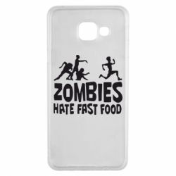 Чохол для Samsung A3 2016 Zombies hate fast food