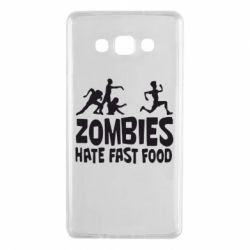 Чохол для Samsung A7 2015 Zombies hate fast food