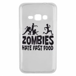 Чохол для Samsung J1 2016 Zombies hate fast food