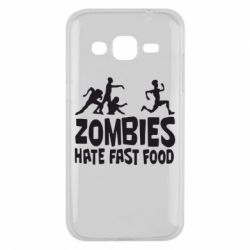 Чохол для Samsung J2 2015 Zombies hate fast food