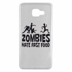 Чохол для Samsung A7 2016 Zombies hate fast food