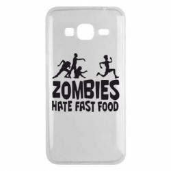 Чохол для Samsung J3 2016 Zombies hate fast food