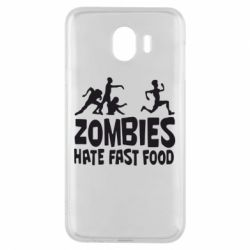 Чохол для Samsung J4 Zombies hate fast food