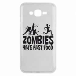 Чохол для Samsung J7 2015 Zombies hate fast food