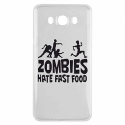 Чохол для Samsung J7 2016 Zombies hate fast food
