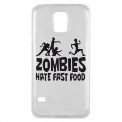 Чохол для Samsung S5 Zombies hate fast food