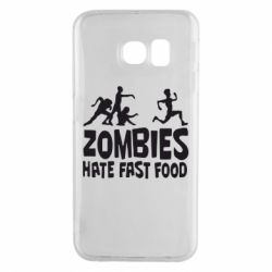 Чехол для Samsung S6 EDGE Zombies hate fast food - FatLine