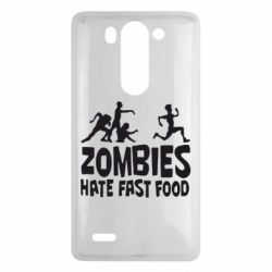 Чехол для LG G3 mini/G3s Zombies hate fast food - FatLine