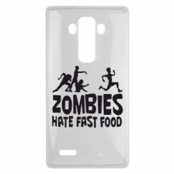 Чехол для LG G4 Zombies hate fast food - FatLine