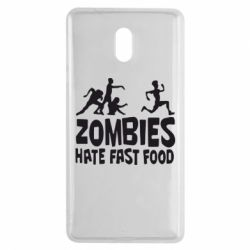 Чехол для Nokia 3 Zombies hate fast food - FatLine