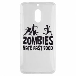 Чехол для Nokia 6 Zombies hate fast food - FatLine