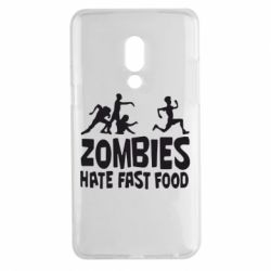 Чехол для Meizu 15 Plus Zombies hate fast food - FatLine