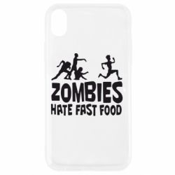 Чохол для iPhone XR Zombies hate fast food