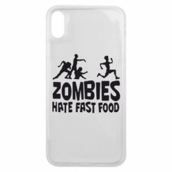 Чохол для iPhone Xs Max Zombies hate fast food