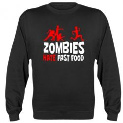 Реглан (свитшот) Zombies hate fast food - FatLine