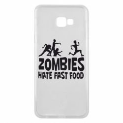 Чохол для Samsung J4 Plus 2018 Zombies hate fast food