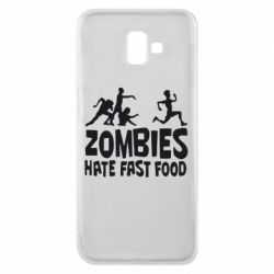 Чохол для Samsung J6 Plus 2018 Zombies hate fast food