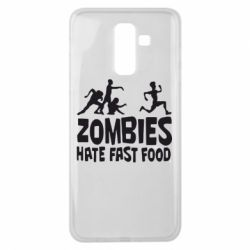 Чохол для Samsung J8 2018 Zombies hate fast food