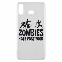 Чохол для Samsung A6s Zombies hate fast food