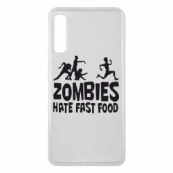 Чохол для Samsung A7 2018 Zombies hate fast food