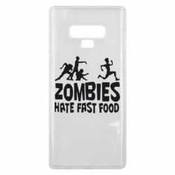 Чехол для Samsung Note 9 Zombies hate fast food - FatLine
