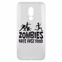 Чехол для Meizu 16x Zombies hate fast food - FatLine