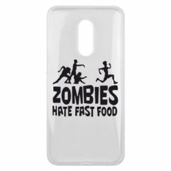 Чехол для Meizu 16 plus Zombies hate fast food - FatLine