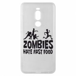 Чехол для Meizu Note 8 Zombies hate fast food - FatLine
