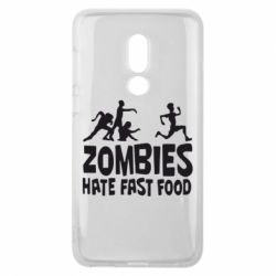 Чехол для Meizu V8 Zombies hate fast food - FatLine
