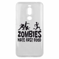 Чехол для Meizu X8 Zombies hate fast food - FatLine
