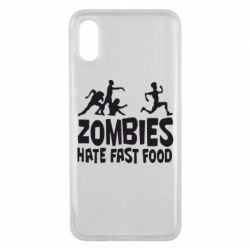 Чехол для Xiaomi Mi8 Pro Zombies hate fast food - FatLine