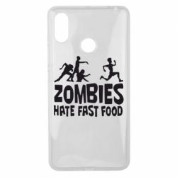 Чехол для Xiaomi Mi Max 3 Zombies hate fast food - FatLine