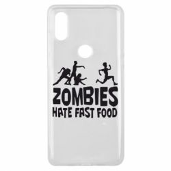 Чехол для Xiaomi Mi Mix 3 Zombies hate fast food - FatLine