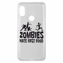 Чехол для Xiaomi Redmi Note 6 Pro Zombies hate fast food - FatLine