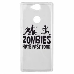 Чехол для Sony Xperia XA2 Plus Zombies hate fast food - FatLine