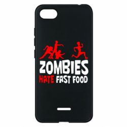 Чехол для Xiaomi Redmi 6A Zombies hate fast food - FatLine