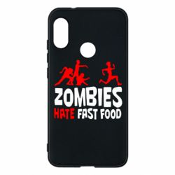 Чехол для Mi A2 Lite Zombies hate fast food - FatLine