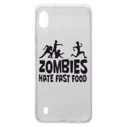Чохол для Samsung A10 Zombies hate fast food