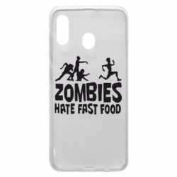 Чохол для Samsung A20 Zombies hate fast food