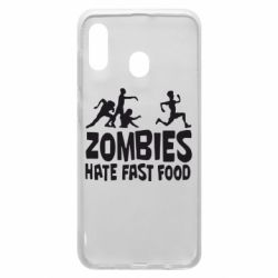 Чохол для Samsung A30 Zombies hate fast food