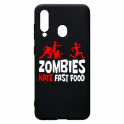 Чохол для Samsung A60 Zombies hate fast food