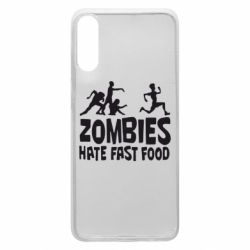Чохол для Samsung A70 Zombies hate fast food