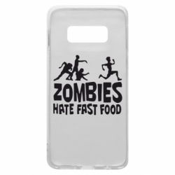 Чохол для Samsung S10e Zombies hate fast food
