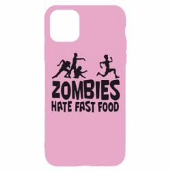 Чохол для iPhone 11 Pro Zombies hate fast food